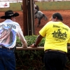 Two paniolo, Molokai Ranch Rodeo, photo by Mark Kailana Nelson