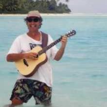 Knee deep in the Aitutaki Lagoon