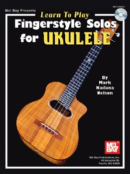 "Cover of ""Learn to Play Fingerstyle Solos for Ukulele"" book"