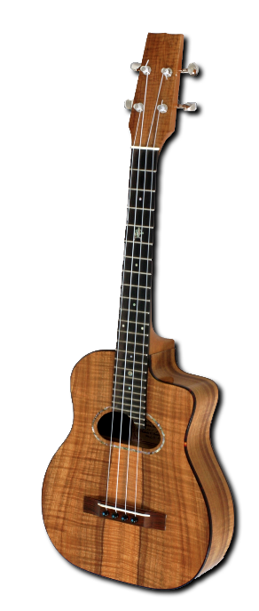 Photo of Island Jazz ukulele by Dennis Kale, Po Mahina Musical Instruments, Hawaii