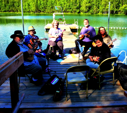 Photo of ukulele class at Acoustic Alaska Guitar Camp