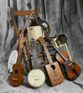 A handful of vintage instruments.