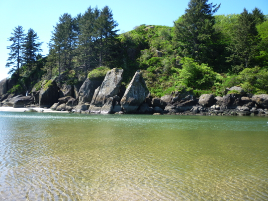 Salmon River and Rocks, Cascade Head, Oregon Coast