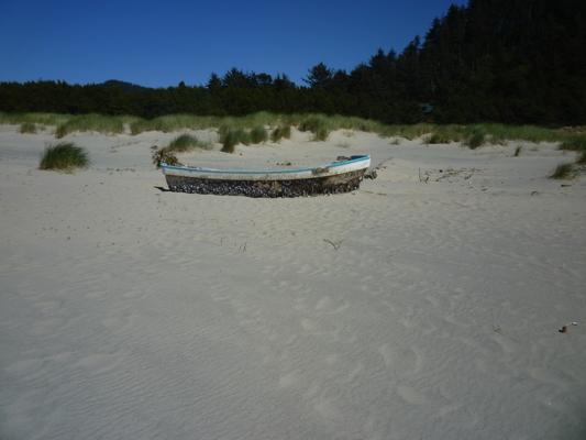 Beached Japanese Fishing Boat, Oregon Coast