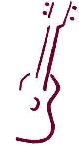 line drawing of a ukulele