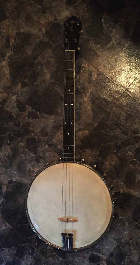 A picture of the rare SeLu Tenor Banjo